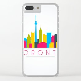 Abstract Toronto Skyline Clear iPhone Case