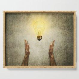 bulb idea Serving Tray