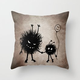 Evil Flower Bug Mother's Day Throw Pillow