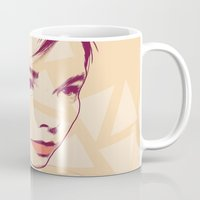 bjork Mugs featuring Bjork by Isabel Arenas