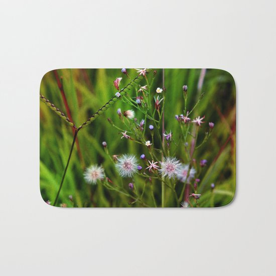 I'd rather be a weed than smell of roses cultured seed Bath Mat