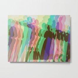 Rainbow Light Installation Metal Print