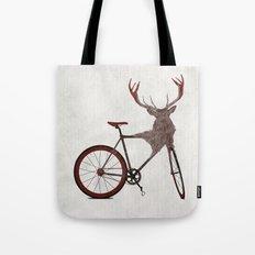 Stag Bike Tote Bag