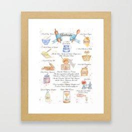 Bridescake Illustrated Recipe Framed Art Print