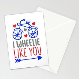 I wheelie like you shirt Stationery Cards