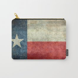 Texas State Flag, Retro Style Carry-All Pouch