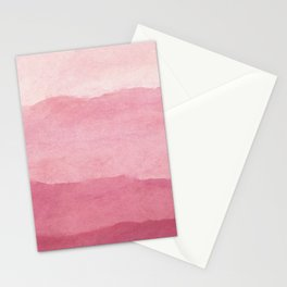 Ombre Waves in Pink Stationery Cards