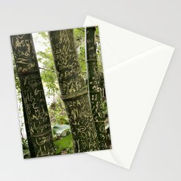 Carvings on Bamboo Stationery Cards