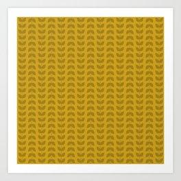 Lemon Curry Leaves Art Print