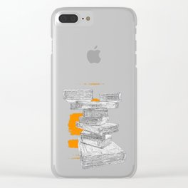 Book Stack Clear iPhone Case