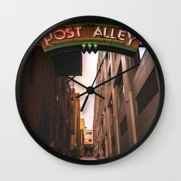 Post Alley in Seattle Washington Wall Clock
