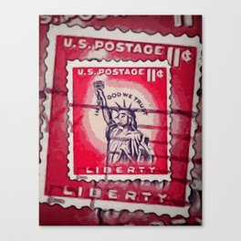 Stamp of Liberty Canvas Print