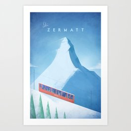 Ski Zermatt Art Print
