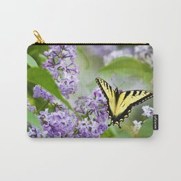 Lilac Butterfly Carry-All Pouch