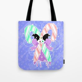 Candy Canes: Pastel Goth Version Tote Bag