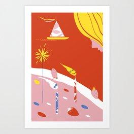 DAY OF BIRTH Art Print