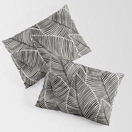Tropical Palm Leaves – Black Palette Pillow Sham