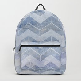chevron blue and white Backpack