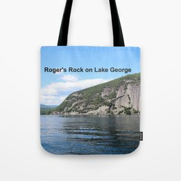 Roger's Rock on Lake George in the Adirondacks Tote Bag