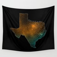 sagan Wall Tapestries featuring Texas StarStuff by Yespo Designs