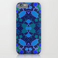 Lila's Flowers Repeat Blue Slim Case iPhone 6s