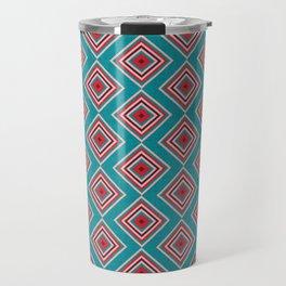 Check Pattern Teal #homedecor #retro Travel Mug