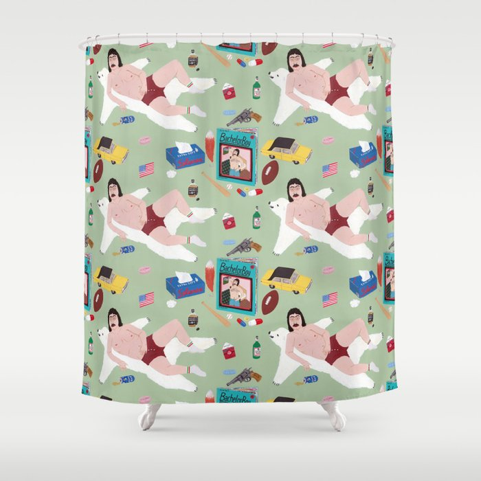 Sexy Bachelor Pattern Shower Curtain By Angeladalinger