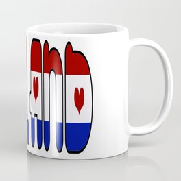 Holland Netherlands Font with Dutch Flag Coffee Mug