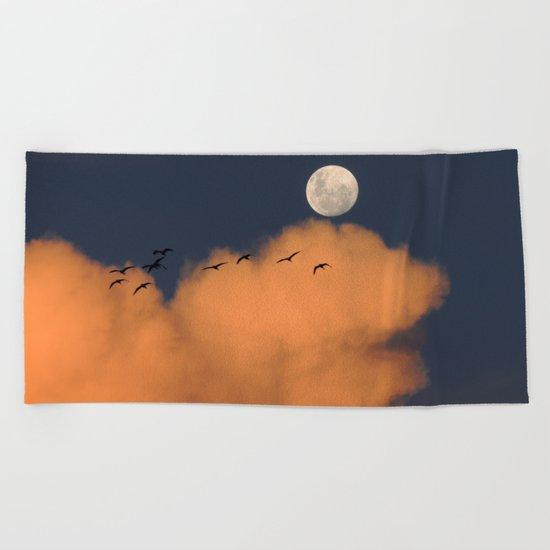 Moon cloud sky 7 Beach Towel