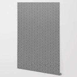 Black and White Greek Key Pattern Wallpaper