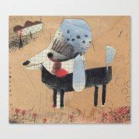 poodle Canvas Prints featuring Poodle by Natalie Pudalov