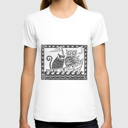 The Owl And The Pussycat (white background) T-shirt