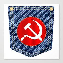 Russian Denim Pocket Canvas Print