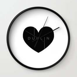 I left my heart in Dublin Wall Clock
