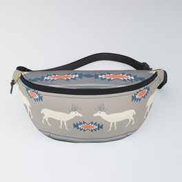Decorative Christmas pattern with deer Fanny Pack