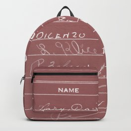 Library Card 23322 Negative Red Backpack