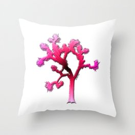 Joshua Tree Strawberry by CREYES Throw Pillow