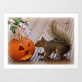 visit at halloween Art Print