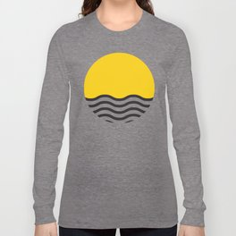 Waves of Yellow Long Sleeve T-shirt