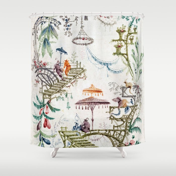 Enchanted Forest Chinoiserie Shower Curtain