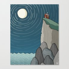 House on a Cliff Canvas Print