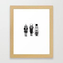 Sans Joyeux Noel Framed Art Print