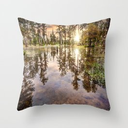 Swamp Shallows Throw Pillow