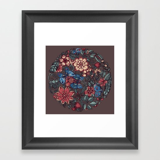 Circle of Friends in Colour Framed Art Print