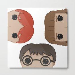 Harry, Ron & Hermione Metal Print