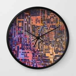 Where Are YOU -3 / Urban Density Wall Clock
