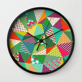 Patch Work Pattern. Wall Clock