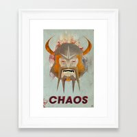 chaos Framed Art Prints featuring Chaos by James Biggie