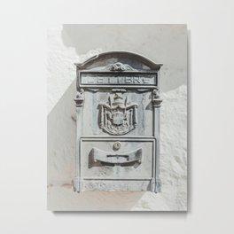 Antique Vintage Mailbox | Cute Italian vintage mailbox | italian village mailbox post antique Metal Print