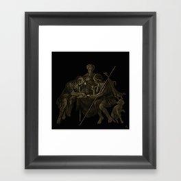 """Esau Sells His Birthright for Pottage of Lentils"". #bible #esau #birthright #jacob #art #digitalart Framed Art Print"